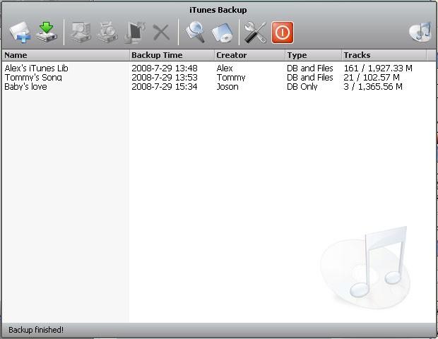 Aniosoft iTunes Backup