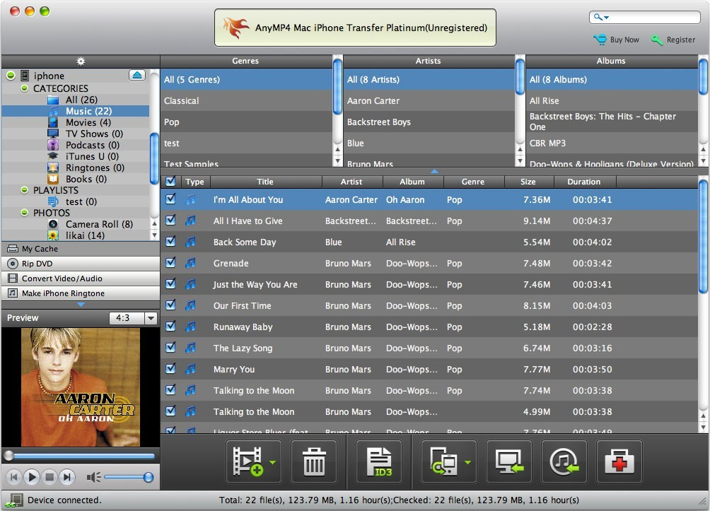 AnyMP4 Mac iPhone Transfer Platinum