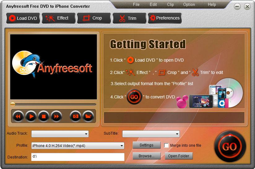 Anyfreesoft Free DVD to iPhone Converter