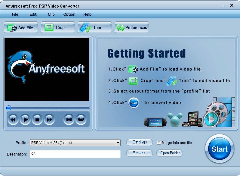Anyfreesoft Free PSP Video Converter