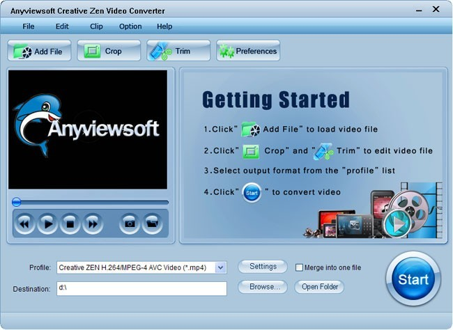 Anyviewsoft Creative Zen Video Converter