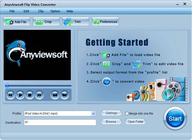 Anyviewsoft Flip Video Converter