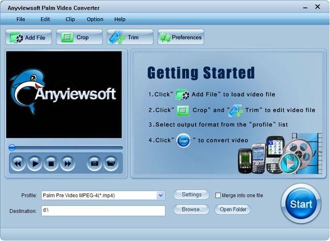 Anyviewsoft Palm Video Converter