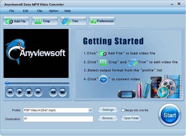 Anyviewsoft Sony MP4 Video Converter