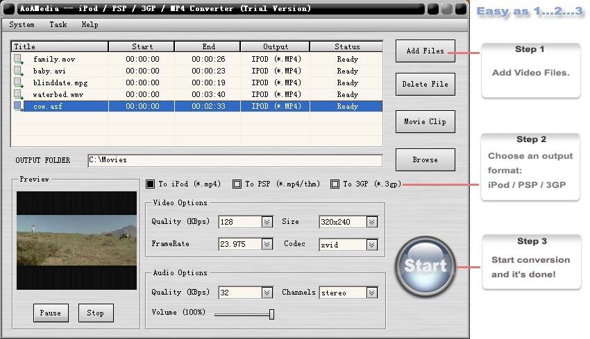 AoA iPod/PSP/3GP/MP4 Converter