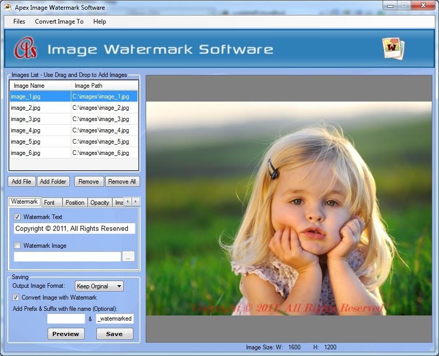 Apex Image Watermark