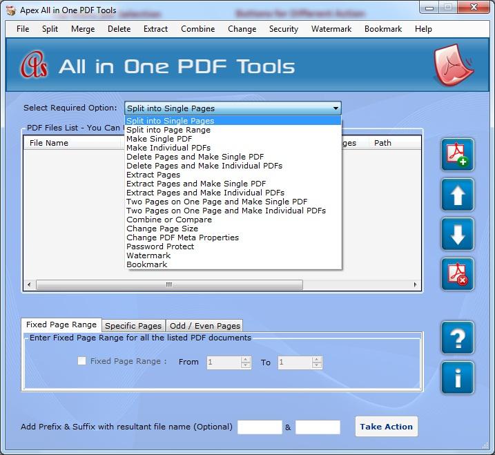 Apex PDF File Splitter