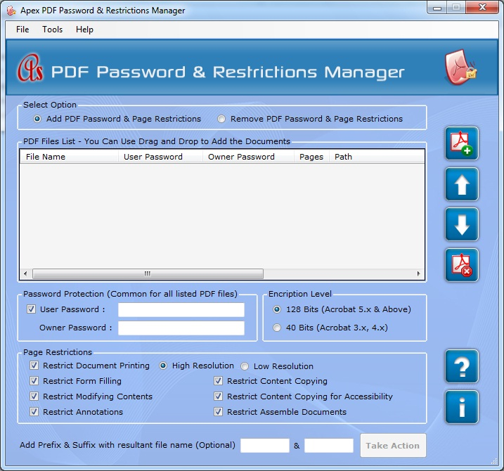 Apex PDF Security Remover