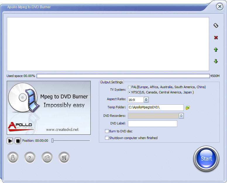 Apollo MPEG to DVD Burner