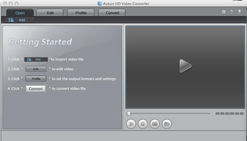 AuKun HD Video converter for Mac