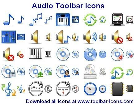 Audio Toolbar Icons