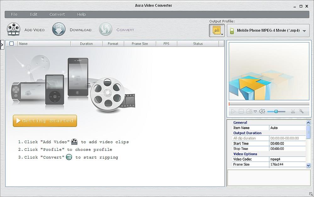 Aura Free Video Converter