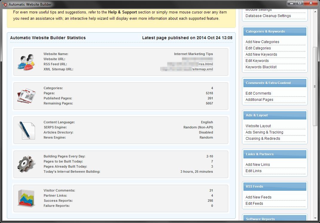 Automatic Website Builder