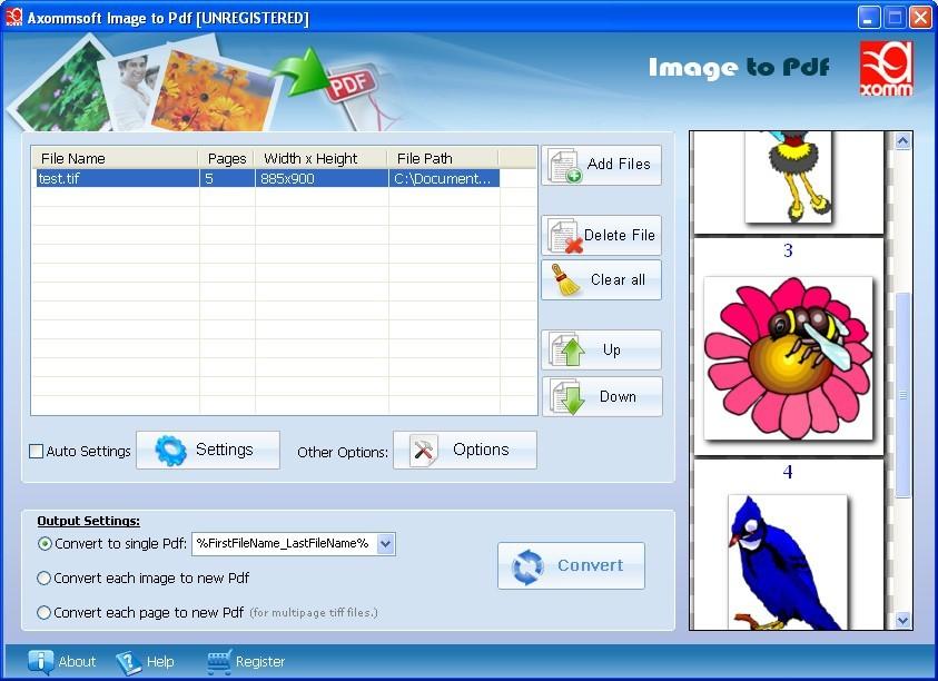 Axommsoft Image to PDF Converter