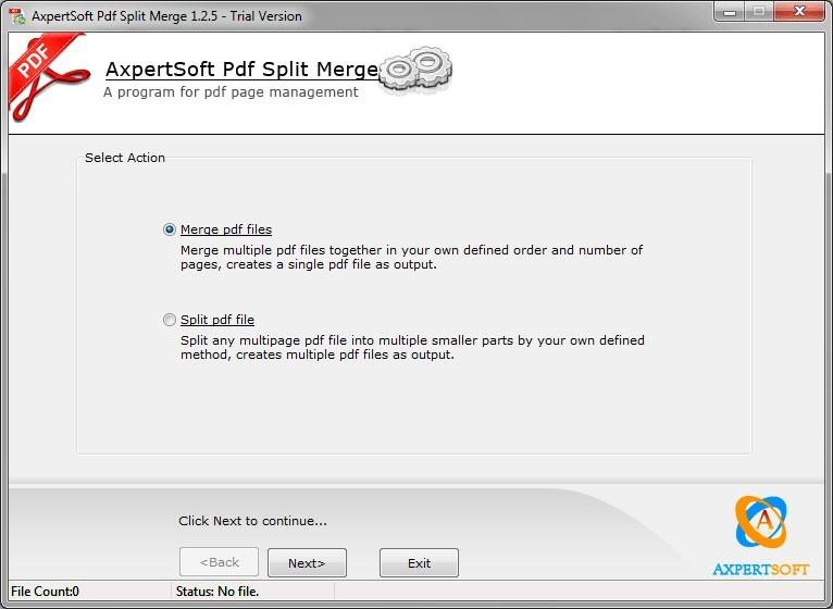 AxpertSoft Pdf Split Merge