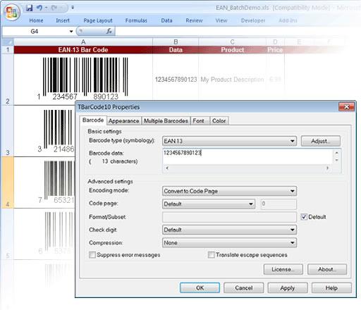 Barcode Generator ActiveX/OCX TBarCode