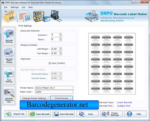 Barcode Generator for Warehouse