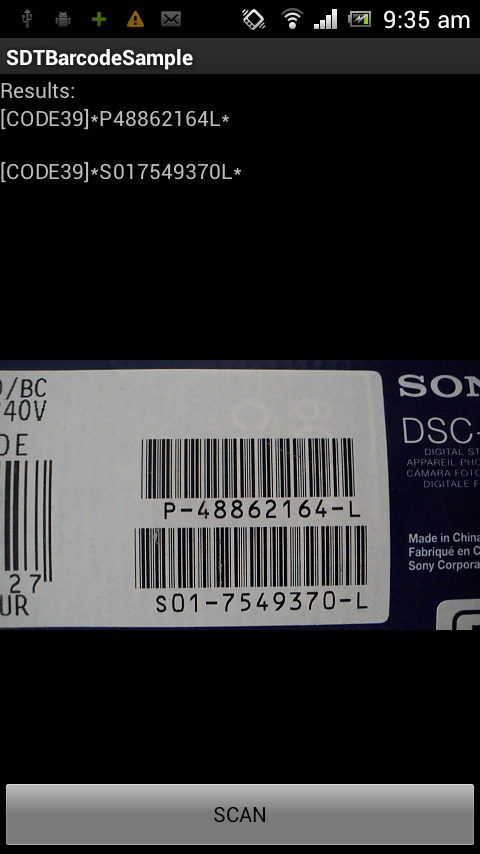 Barcode Reader SDK for Android