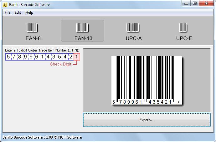 Barillo Barcode Software