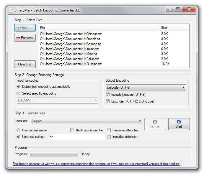 Batch Encoding Converter