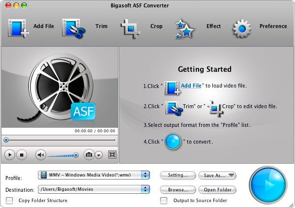 Bigasoft ASF Converter for Mac