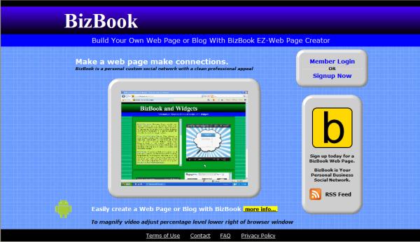 BizBook EZ Web Page Creator