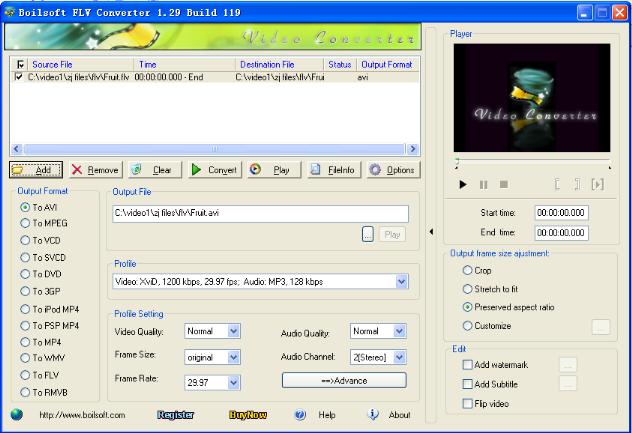 Boilsoft FLV Converter