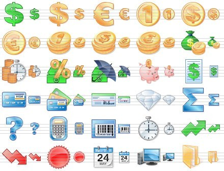 Business Toolbar Icons