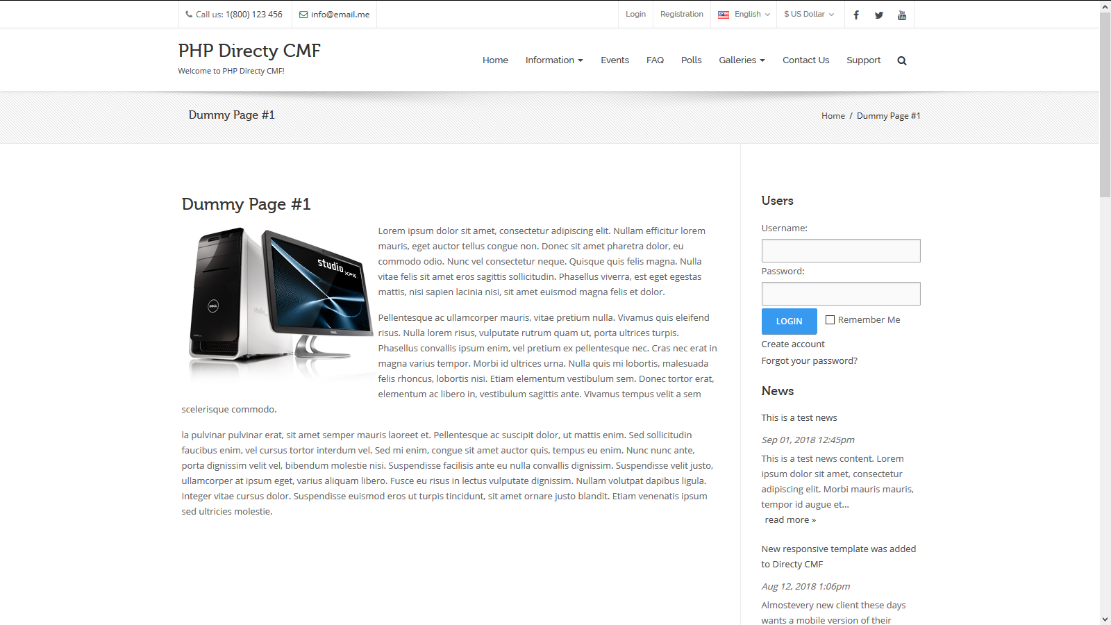 CMS module for Directy CMF