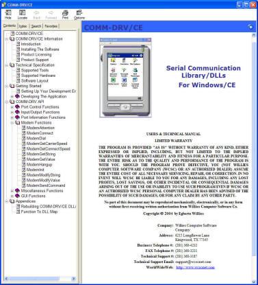 COMM-DRV/CE Standard Edition
