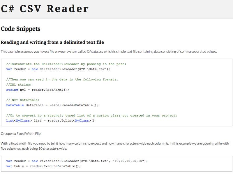 C# CSV Reader