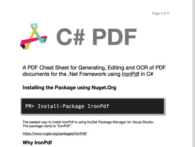 C# PDF