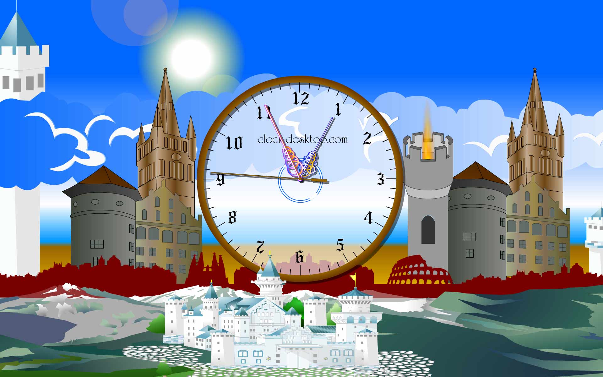 Castle Clock Live Wallpaper