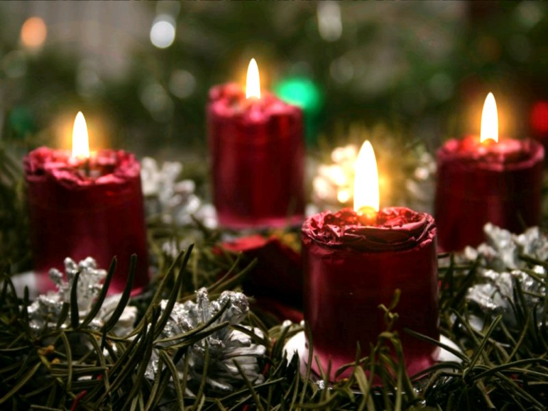 Christmas Candlelight Living Desktop