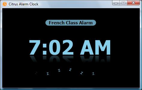 Citrus Alarm Clock