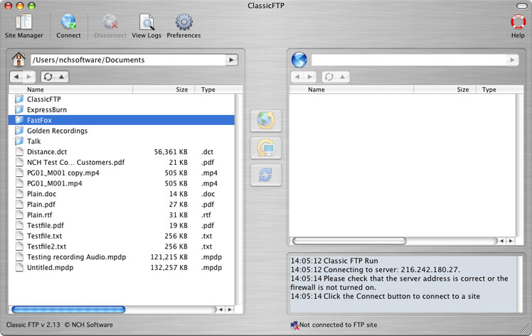 Classic FTP Free for Mac