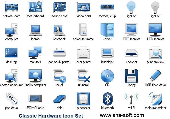 Classic Hardware Icon Set