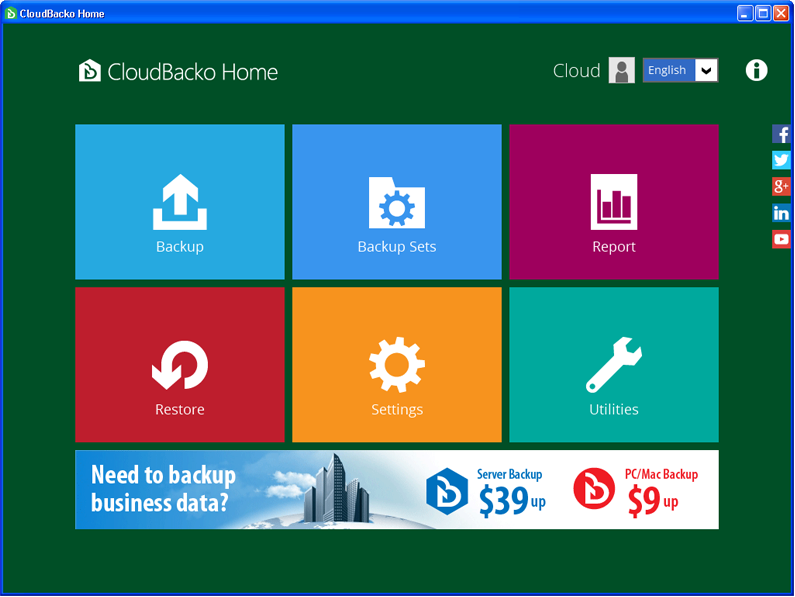 CloudBacko Home for Windows