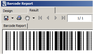 Code 128 Barcode for i-net Clear Reports
