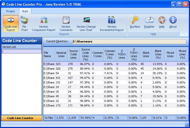 Code Line Counter Pro - Java Version