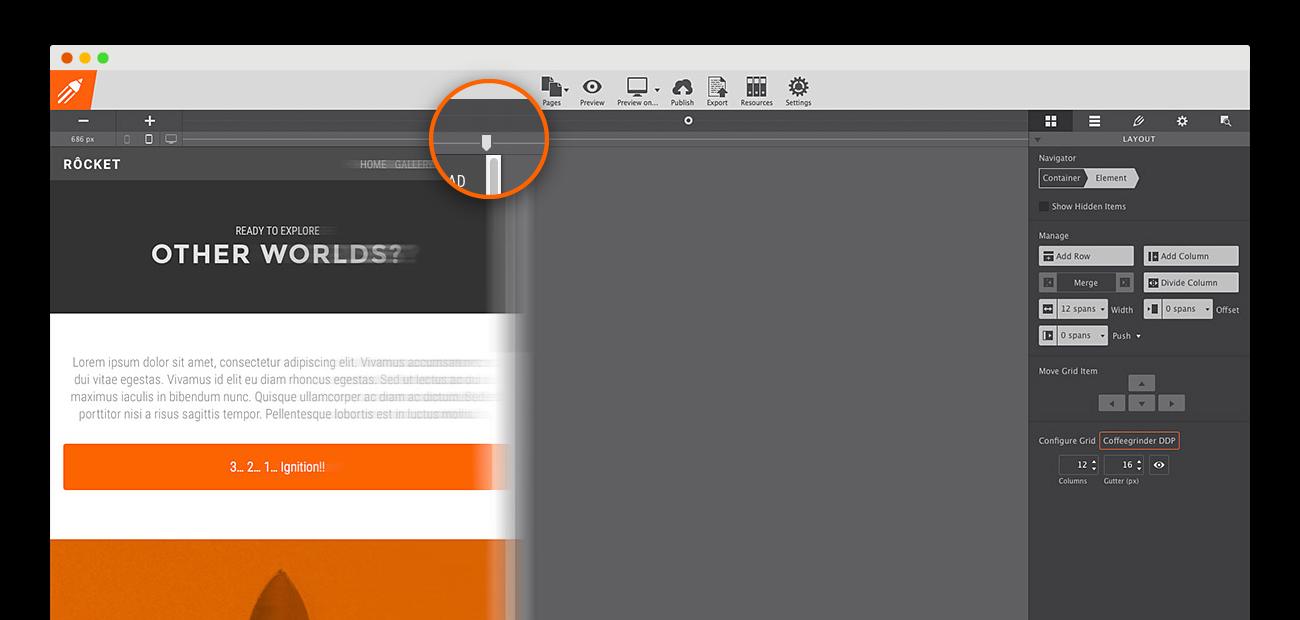 CoffeeCup Responsive Site Designer for OS X