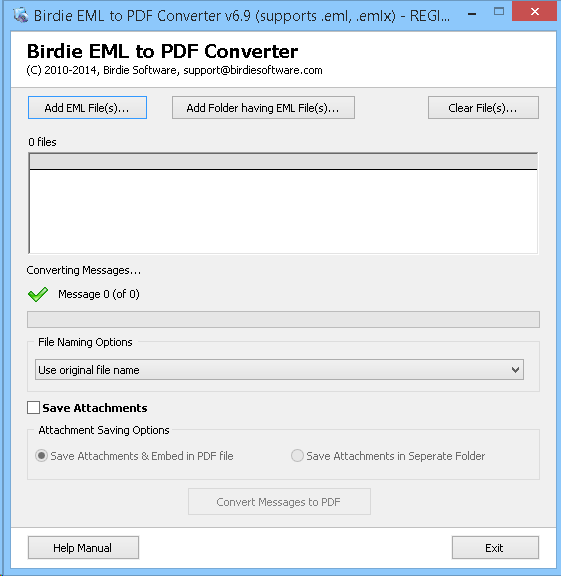 Convert EML to PDF Adobe