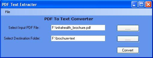 Convert PDF To Text File