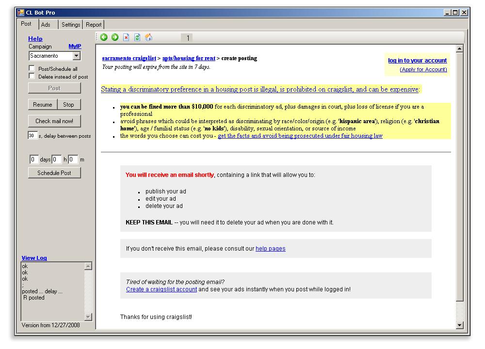 Craigslist Bot Pro