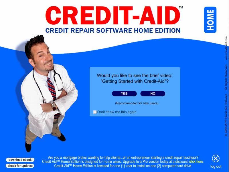 Credit-Aid Credit Repair Software for Home