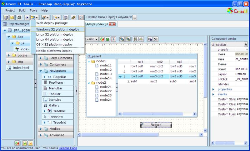CrossUI RAD Desktop - OSX32