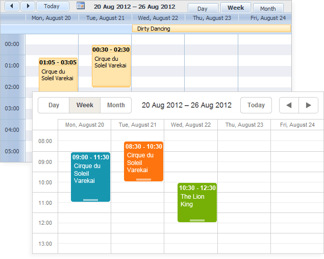 DHTMLX Scheduler .NET for ASP.NET