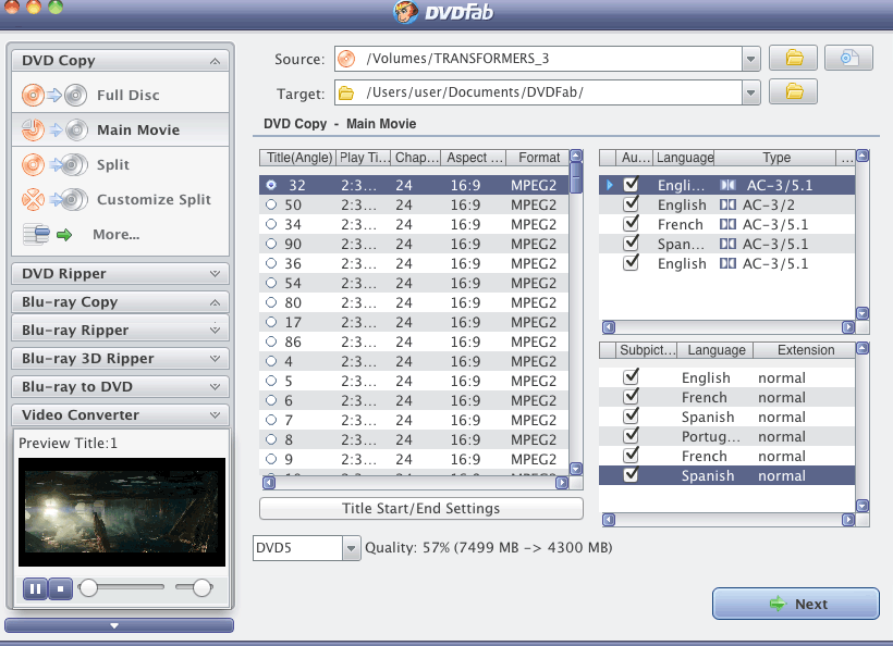 DVDFab DVD Copy & DVD Ripper