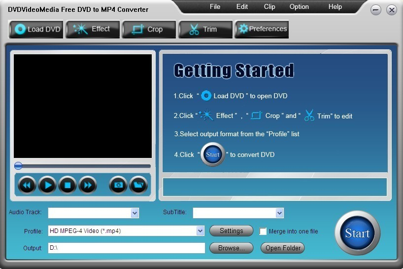 DVDVideoMedia Free DVD to MP4 Converter
