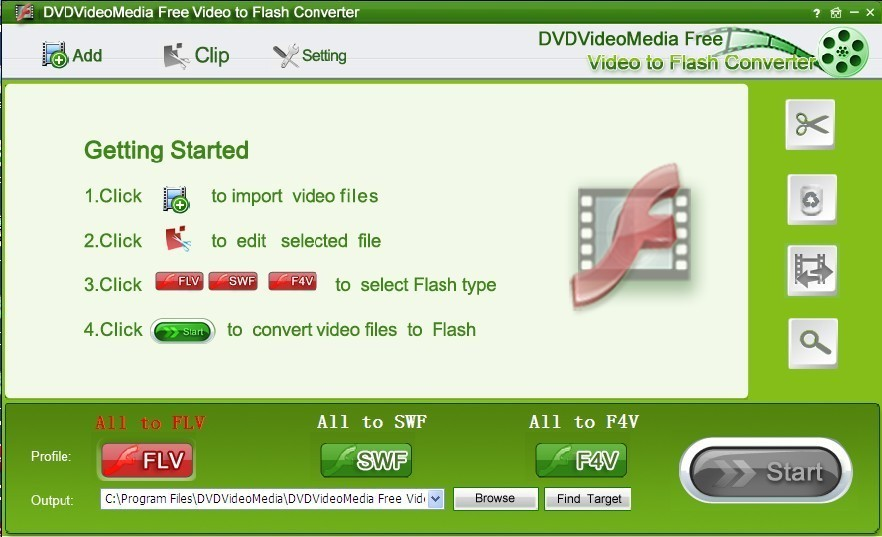 DVDVideoMedia Free Video Flash Converter